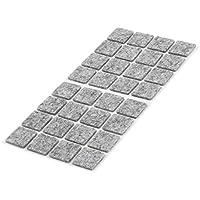 Sourcingmap® - Protector de Fieltro para Silla de Mesa, Cuadrado, Autoadhesivo, 18 x 18 mm, 32 Unidades, Color Gris
