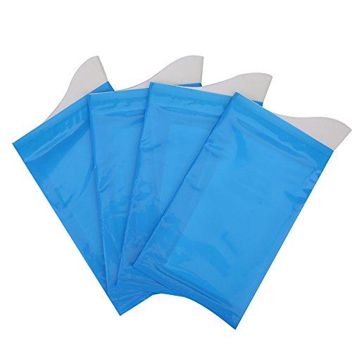 Alomejor Notfall Urin Tasche, 4 Pcs Mini WC Tasche Blau, Camping Tragbare Urinbeutel für Männer Frauen Kinder -
