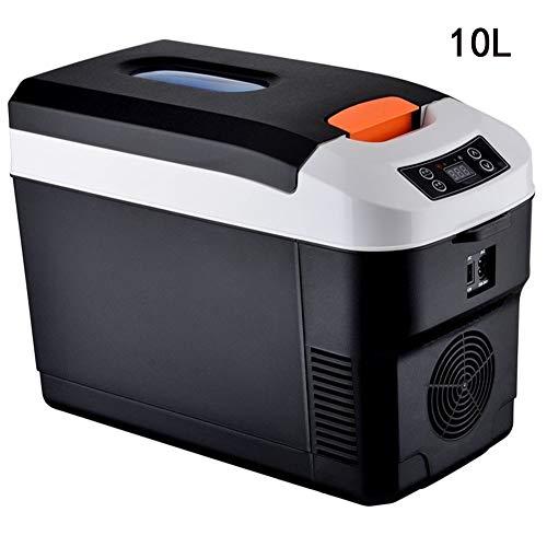 Preisvergleich Produktbild Lyy - 8866 Kühlschrank Kühl Gefrier Gefrierschrank Auto kühlschrank,  tragbare Thermoelektrische Kfz-Wärme- & Kühl-Box,  10L,  12V,  220V,  für Auto und Camping Autokühlschrank (Color : Black)