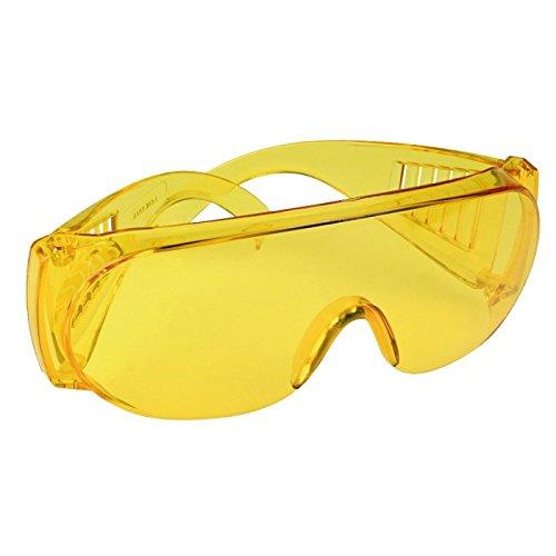 Schutzbrille gelb transparent getönt, Brille, Arbeitsbrille, auch für Brillenträger geeignet,...