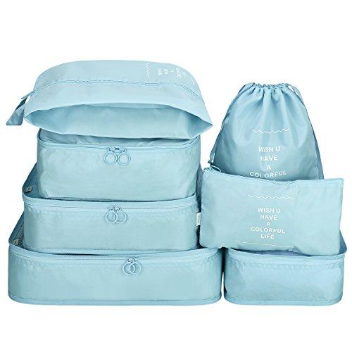 G4Free G4Free Kleidertaschen-Set 7-Teilig Reisetasche in Koffer W?schebeutel Schuhbeutel Kosmetik Aufbewahrungstasche