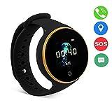 VBESTLIFE GPS Smart Watch Kid Safe pour Smart Montre Bracelet, Enfant Montre SOS LBS + GPS + AGPS Positionnement Tracker Kid Safe Anti-Perdu pour Enfant.(Black)