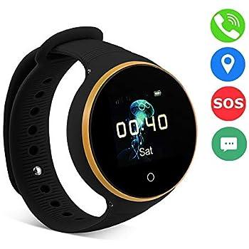 VBESTLIFE GPS Smart Watch Kid Safe pour Smart Montre Bracelet, Enfant Montre SOS LBS + GPS + AGPS Positionnement Tracker Kid Safe Anti-Perdu pour Enfant.