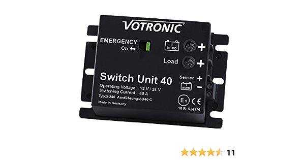 Votronic Switch Unit 40 12v 24v Batterie Hauptschalter Beleuchtung