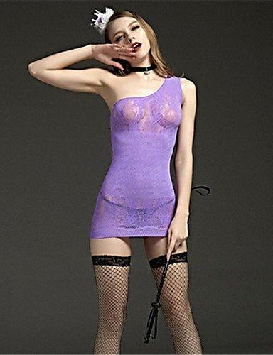 HJL Da donna Completi Indumenti da notte Rayon Elastene-Sexy Jacquard , purple , one-size purple