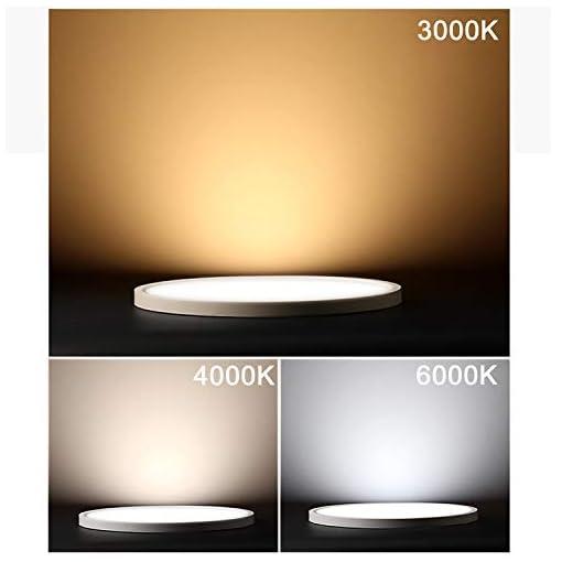 Yafido LED Plafoniera 48W Ultra magro UFO Pannello LED Rotondo