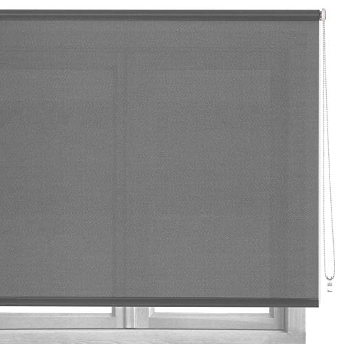 Estor Enrollable Gris de Tela Moderno de 160 x 180 cm Factory - LOLAhome