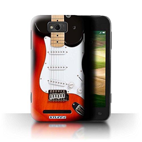 Stuff4® Hülle/Hülle für Xiaomi Mi 1S / Rot Electirc Muster/Gitarre Kollektion (Red Mi 1s Handy)