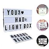 Lichte Box, CrazyFire LED Lichtkasten A4, Boxen Beleuchtung,Gestaltbare Leuchtende Kinotafel Filmischen Licht-Box mit 104 Buchstaben und 85 bunten Symbole