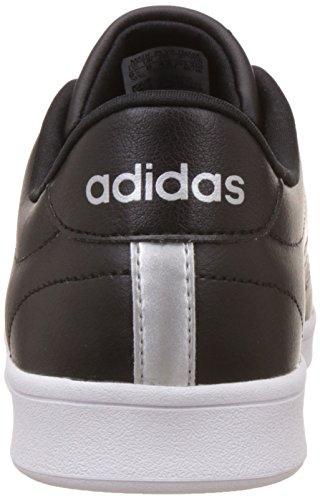 Adidas Advantage Clean Qt W, Sneakers Basses Femme Noir (Negbas/negbas/plamet)
