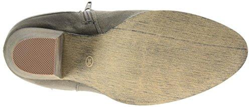 La Strada Lt.grey Suede Look Bootie, Bottes Classics courtes, non doublées femme Gris - Grau (2203 - micro lt.grey)