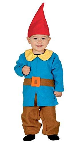 KINDERKOSTÜM - ZWERG - Größe 92-93 cm ( 12-24 Monate (Halloween Gnome Baby Kostüm)