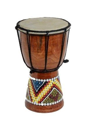 20cm Djembe Trommel Bongo Bunt Bemalt