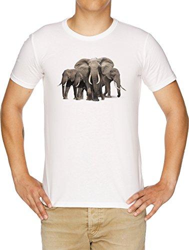 Vendax Elefantes Camiseta Hombre Blanco