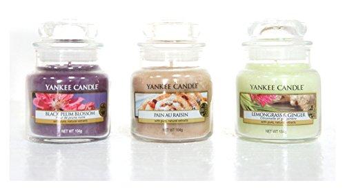 Offizielles Yankee Candle Starter Set Auswahl Box Geschenk Set von 3Signature Mini Kleine Marmeladengläser