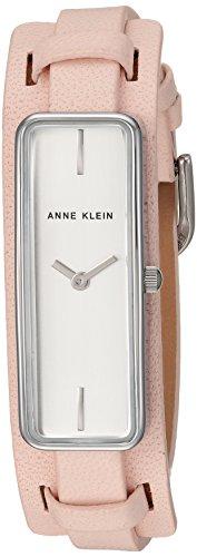 Anne Klein Women's AK-2745SVLP Silver Leather Japanese Quartz Fashion Watch