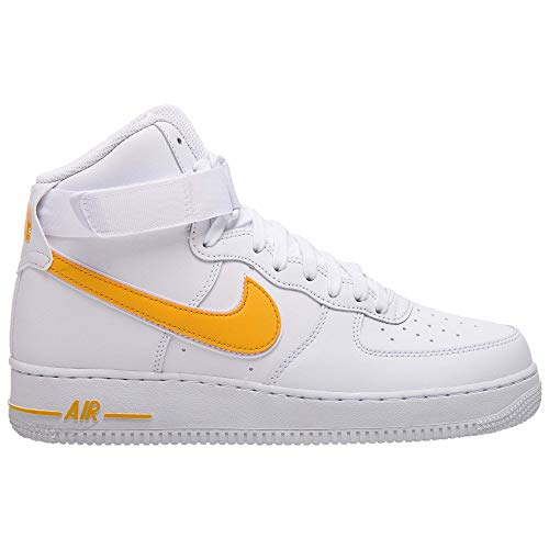 Nike Sneakers Air Force 1 High '07 3 White/University Gold AT4141-101 (44 - Bianco)