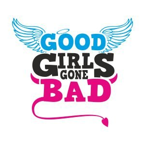 T-Shirt für den Junggesellinnenabschied mit dem Motiv Good Girls gone Bad Orange