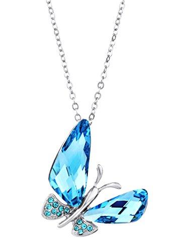 Exclusivo colgante Mariposa con genuino cristal Swarovski.