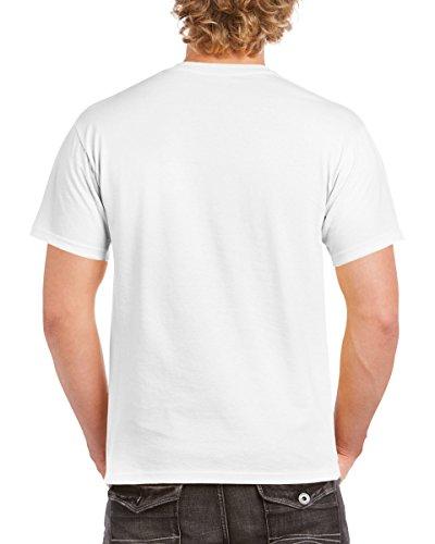 GILDAN -  T-shirt - Uomo Bianco bianco