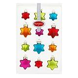 12 Mille Fiori Sterne bunt aus Glas von Inge Glas® - 3cm/4cm - Weihnachtsbaum Baumschmuck Ornamente