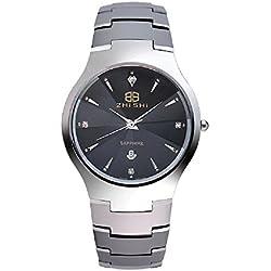 Wasserdicht Stahl Saphir Business Casual, Herren-Armbanduhr Uhren