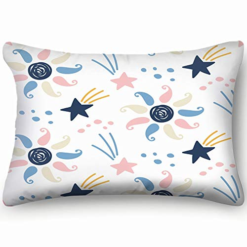 Hand Drawn Outer Space Home Decor Wedding Gift Engagement Present Housewarming Gift Cushion Cover 20x30 inch
