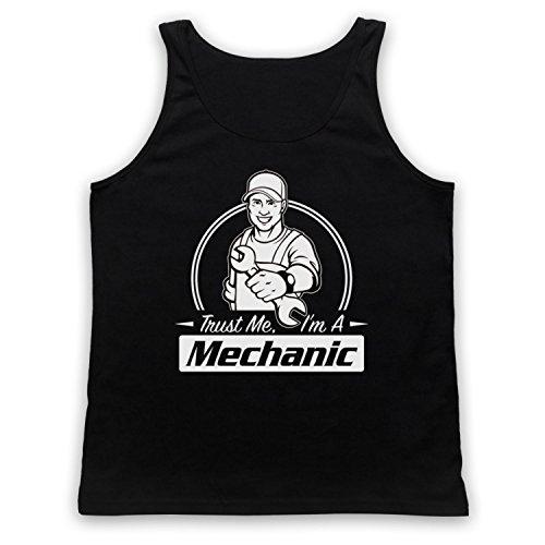 Trust Me I'm A Mechanic Funny Work Slogan Tank-Top Weste Schwarz