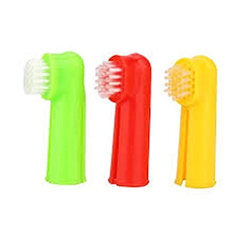 PET FINGER TOOTHBRUSH - ONE- DOG - CAT - ORAL HYGINE - GROOMING