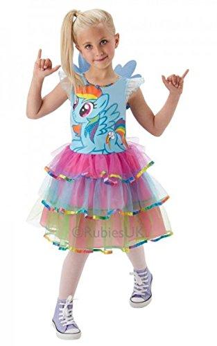 leines Pony Regenbogen Streifen Luxus Kostüm - 5-6 Jahre (Rainbow Dash Tutu)