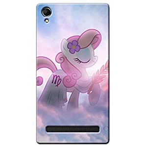 CUTE UNICORN BACK COVER FOR INTXE AQUA POWER PLUS