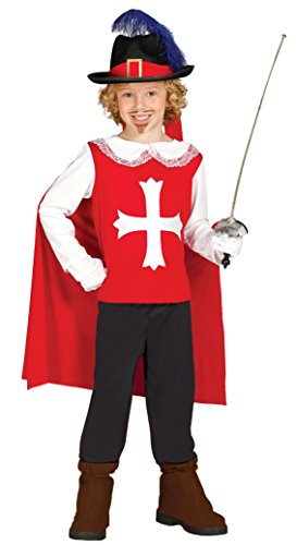 Kostüm Frankreich Für Jungen (Musketier - Kostüm für Kinder Gr. 98 - 134,)