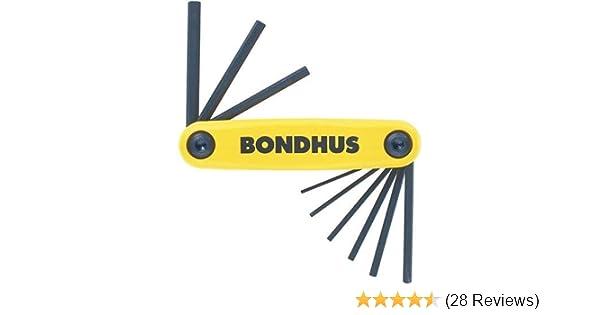 Bondhus Sechskant Stiftschlüssel Set GorillaGrip Inch Zoll 0.050-3//16 12591