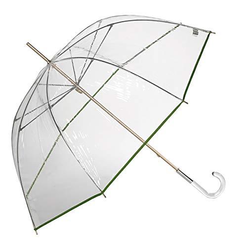 EZPELETA Paraguas Transparente Largo Mujer Forma cúpula