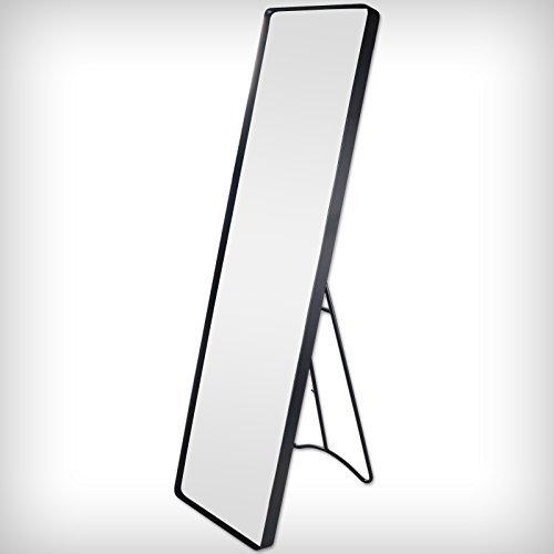 DRULINE Standspiegel Garderobenspiegel Ankleidespiegel Ganzkörperspiegel Spiegel Blauanthrazit (CP-6001)