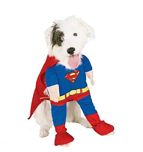 Inception Pro Infinite XS - Kostüm - Verkleidung -Superman - Mann aus Stahl - Hund - mod.2 (Halloween Männer, Heiße)