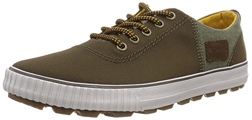 Columbia Vulc N Trail Lace, Chaussures Multisport Outdoor Homme Marron (Dark Brown, Golden Yellow 202)