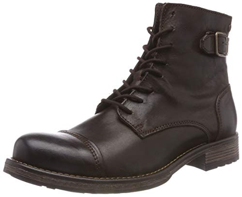 JACK & JONES Jfwsiti Leather, Botas Clasicas para Hombre, Marrón...