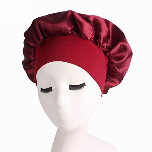 Alivier Elastic Band Traceless Satin Schlafkappen für Frauen Salon Bonnet Hair Loss Cap