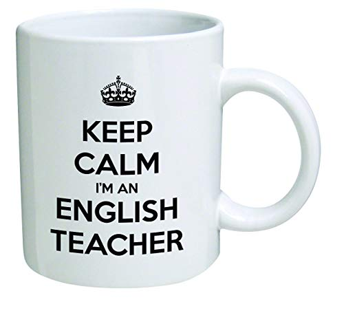 Funny Mug Keep Calm I'm an English Teacher 11 OZ Coffee Mugs Inspirational gifts and sarcasm