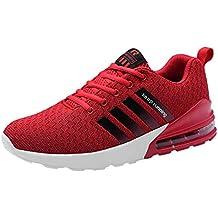 JiaMeng Zapatos para Correr En Montaña Asfalto Deportes Zapatillas Zapatos de Malla al Aire Libre de