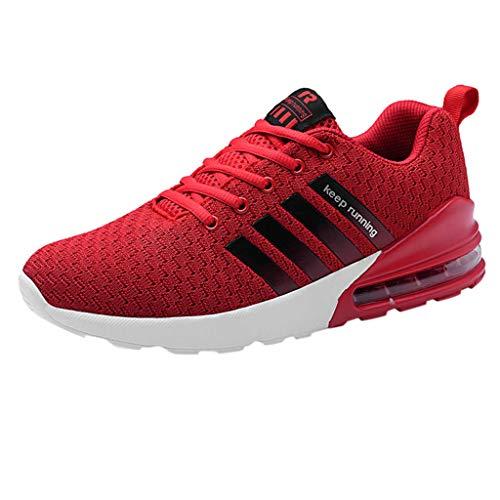 ALIKEEY Sneakers Alte da Uomo, Elastiche E di Grandi Dimensioni, da Uomo, Scarpe da Corsa Basse, Scarpe da Ginnastica Casual da Allenamento