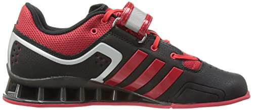 adidas Performance Adipower Weightlifting Trainer Shoe – Black/Light Scarlet/Tech Grey, UK 10.5