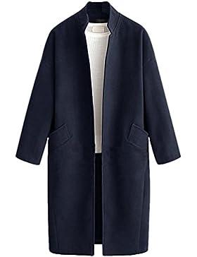 Heheja Donna Maniche Lunghe Soprabito Invernale Trench Cappotto Coat Elegante Giacca