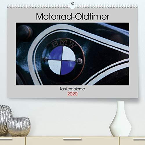 Motorrad Oldtimer - Tankembleme (Premium-Kalender 2020 DIN A2 quer): Tankembleme von Oldtimermotorrädern (Monatskalender, 14 Seiten ) (CALVENDO Technologie)