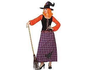 Atosa 26211 - traje de bruja para las mujeres, tamaño 42/44 (XL), negro / púrpura