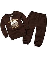 Vine Bébé Survêtements Enfants Vêtements de Sport Manches Longues Épais Sweatshirts + Pantalons