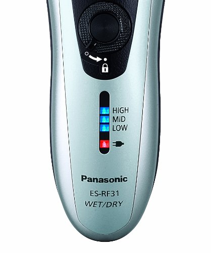Panasonic ES-RF31 4 Blade Electric Shaver Wet/Dry with Flexible Pivoting Head for Men, Stainless – Black/Silver