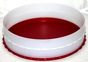 Tupperware Moule à tarte empilable avec fond rouge transparent
