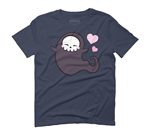 Love Ghost Men's Graphic T-Shirt - Design By Humans Navy